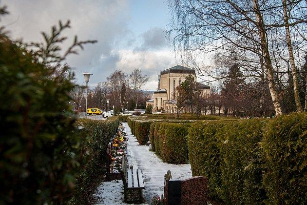 Krematorium v Liberci na snímku ze 14. prosince.