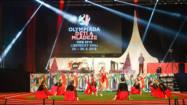 Zahajovací ceremoniál Olympiády dětí a mládeže v Liberci