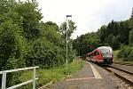 Prezentační jízda železničního dopravce Arriva na tratích v Libereckém kraji. Na snímku vlak Siemens Desiro.