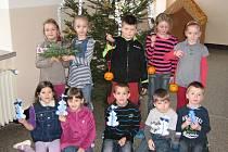 Tvořivá vánoční dílna v ZŠ Vrchlického.
