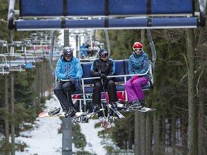 Skiareál v Rokytnici nad Jizerou