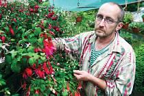 FUCHSIE. V zahradě Jiřího Pevného v Liberci právě rozkvetly.
