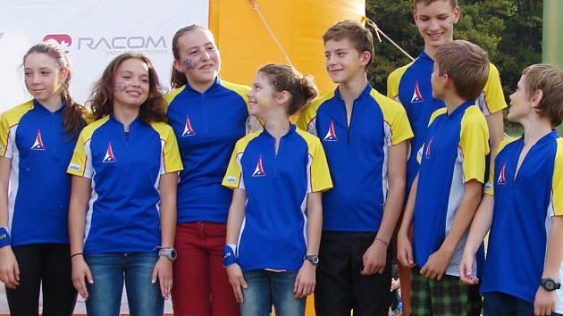 BRONZOVÍ. Liberecký kraj byl třetí ve štafetách.
