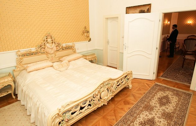 Prezidentské apartmá vClarion grandhotelu Zlatý Lev vLiberci, kde bude během své návštěvy Libereckého kraje prezident republiky Miloš Zeman.