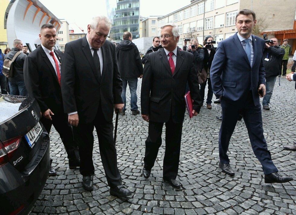 Miloš Zeman na třídenní návštěvě Libereckého kraje.