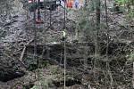 Taktické cvičení v úterý 21. března na řece Kamenici uzavřelo i silnici mezi Návarovem a Vlastiboří. Složky IZS stihly procvičit společný zásah pozemních jednotek a letecké techniky, koordinaci zásahu mezi více složkami za pomoci štábu velitele zásahu, ra