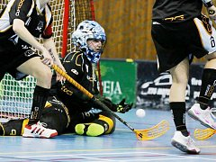 VYCHYTALA NULU. Gólmanka Crazy Girls Liberec Vokatá uhájila ve druhém domácím utkání nulu.
