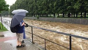 Hladiny řek na Frýdlantsku opět stoupají. Zasedla povodňová komise
