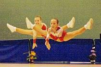 VÍTĚZKY Z POHÁRU FEDERACÍ V BRNĚ. Mladší žákyně skupina gymnastického aerobiku Sport Aerobic centra Liberec.