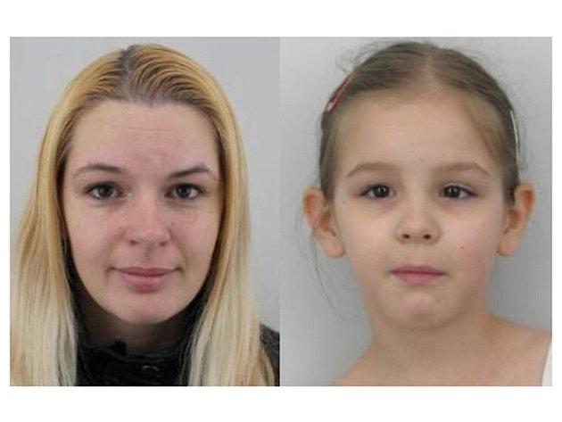 Policie pátrá po dvaatřicetileté Lence Seredové (vlevo) a její devítileté dceři Veronice Seredové (vpravo) z Liberce.