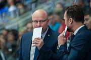 Utkání 6. kola Tipsport extraligy ledního hokeje se odehrálo 30. září v liberecké Home Credit areně. Utkaly se celky Bílí Tygři Liberec a BK Mladá Boleslav. Na snímku je asistent trenéra Patrik Augusta.