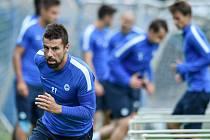 Milan Baroš za Slovan Liberec.