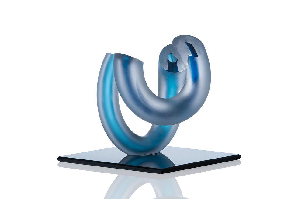 Ukázka z tvorby skleněných objektů od Daniely Divišové.