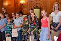 Křest audioknihy Útěk Kryšpína N., který načetly děti z celého Libereckého kraje.