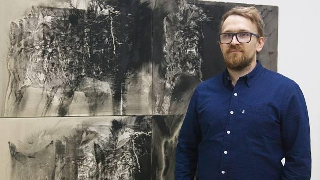 Výstava Martina Salajky v galerii Prostor 228 v Liberci. Na snímku autor Martin Salajka