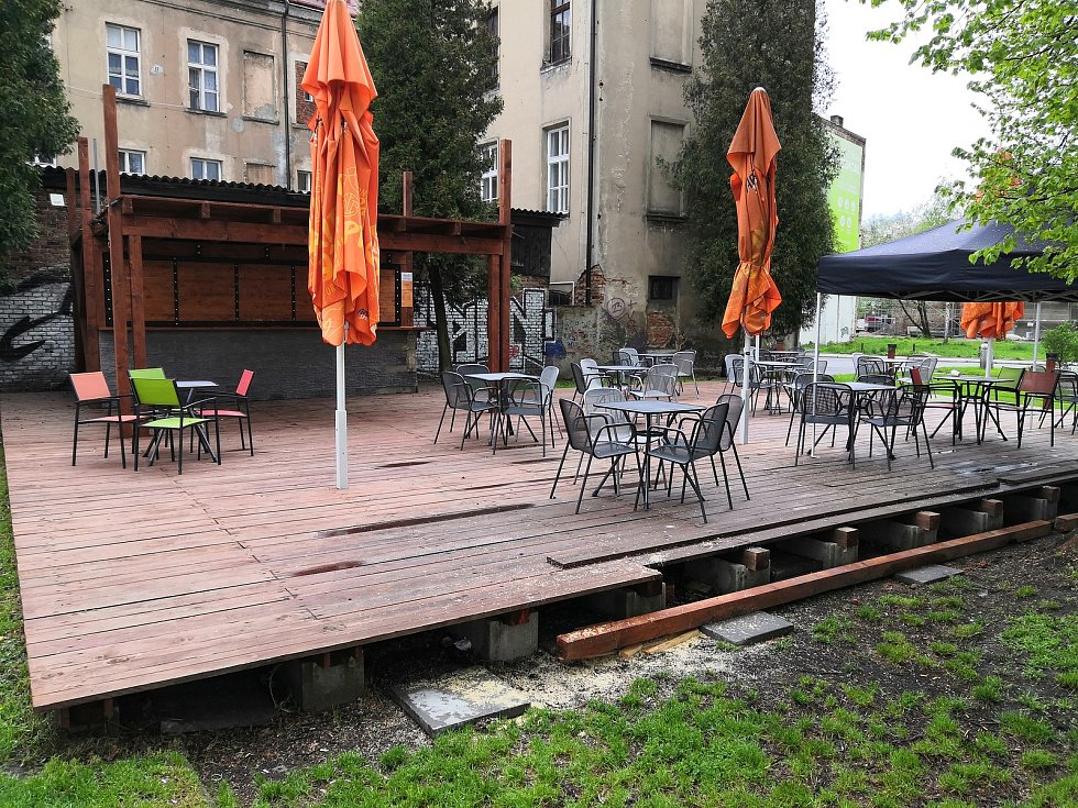 Zahrádky restaurací v Liberci. Ilustrační foto.