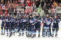 Zklamání hokejistů Liberce po finálové prohře v Třinci. I stříbrná medaile je ale obrovský úspěch.