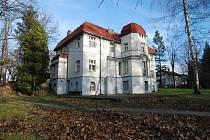 Vilu si nechal postavit Eduard Fritsch v roce 1917 podle návrhu Rudolfa Bitzana. V roce 1921 ji koupil Emil Simon a v roce 1935 došlo k úpravám interiéru, které navrhl Josef Franz Lange z Raspenavy pro Carla Witta.