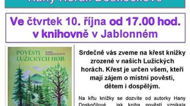 Městská knihovna Jablonné v Podještědí. Autorské čtení