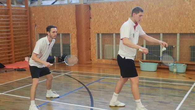Liberečtí badmintonisté Juraj Vachálek a Miroslav Haring.