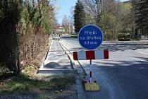 V Baltské ulici v Liberci vzniká nový chodník.