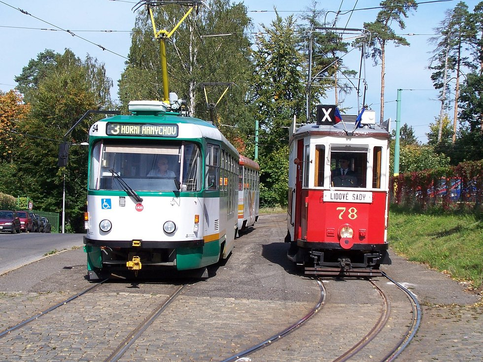 Tramvajová doprava v Liberci. Fotografie je součástí knihy Liberec.