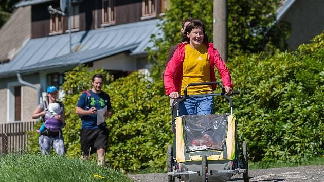 Jizerský prcek, druhý ročník závodu pro drsné rodiče a pohodové děti s tuhým kořínkem.