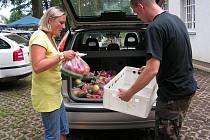 Radka Fišerová dohromady rozdala 132 kilogramů ovoce a zeleniny.
