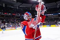 Hokejový brankář Lukáš Pařík.