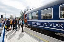 Akce Preventivní vlak na nádraží ve Frýdlantě