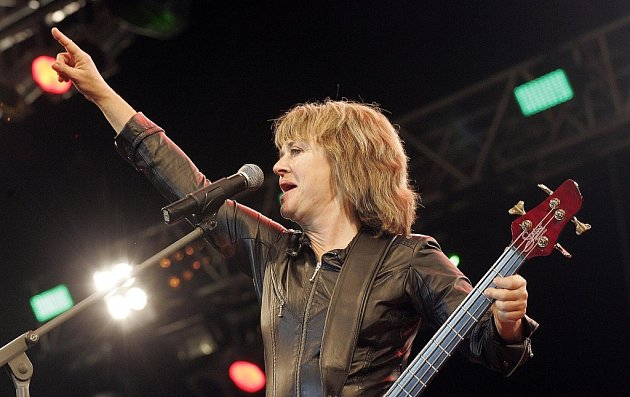 Britská zpěvačka Suzi Quatro.