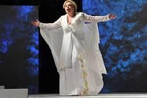 LIANNA SASS V ÚSTŘEDNÍ ROLI LEONORY Verdiho opery Trubadúr. Představení, s nímž se Severočeské divadlo opery a baletu zítra představí v Jablonci nad Nisou, ozdobila soudě dle odborné kritiky pěveckým výkonem, který by si zasloužil živou CD nahrávku.