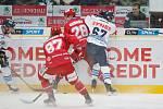 Extraliga ledního hokeje mezi HC Bílí Tygři Liberec a HC Oceláři Třinec