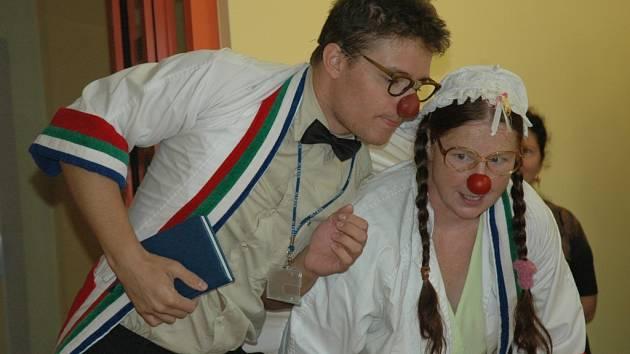 Zdravotní klauni, doktor Huba a sestra Svíčková.