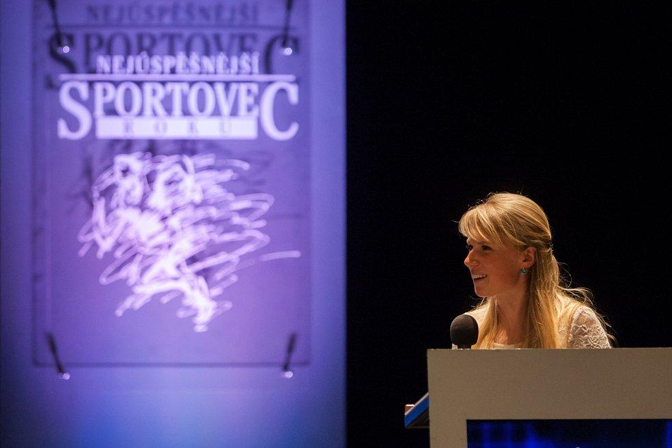 Vyhlášení ankety Nejúspěšnější sportovec Libereckého kraje za rok 2016 proběhlo 4. dubna v libereckém Divadle F. X. Šaldy. Na snímku biatlonistka Eva Puskarčíková.