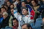 Utkání 31. kola Tipsport extraligy ledního hokeje se odehrálo 20. prosince v liberecké Home Credit areně. Utkaly se celky Bílí Tygři Liberec a BK Mladá Boleslav. Na snímku je fanoušek Liberce.