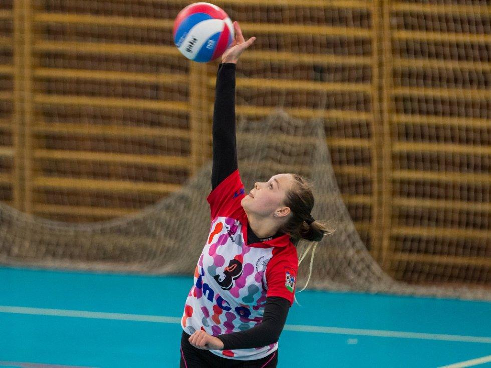 Sportovní liga základních škol ve volejbalu.