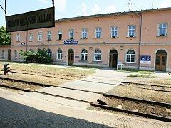 Nádraží v Chrastavě, archivní foto.