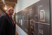 Během tiskové konference, která proběhla 2. května v městském muzeu Špitálek ve Frýdlantě, byla představena také nově upravená expozice. Na snímku je starosta Frýdlantu Dan Ramzer.
