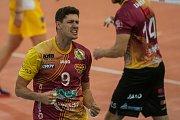 Utkání 6. kola volejbalové UNIQA Extraligy se odehrálo 3. listopadu v Liberci. Utkaly se celky VK Dukla Liberec a SVK Ústí nad Labem. Na snímku je Jakub Veselý.