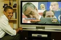 Podobný případ. Americký prezident Obama se dobře baví spícím Schwarzenbergem