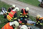 Nehoda autobusu se spoustou zraněných, naštěstí cvičně.