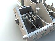 Vizualizace zrekonstruovaného areálu