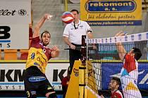 Rozhodující pátý zápas čtvrtfinále volejbalové extraligy mezi Libercem a Ostravou.