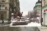 Nová verze prolnutých fotek, které zachycují okamžiky srpna 1968 a dobu dnešní v Liberci.