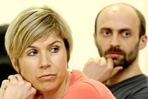 Kateřina Neumannová a zastupitel Jan Korytář.
