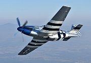 Americké válečné letadlo P51D Mustang.