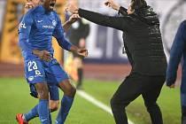 Utkání 3. kola nadstavby první fotbalové ligy, skupina o titul: FC Baník Ostrava - FC Slovan Liberec, 14. května 2019 v Ostravě. Na snímku (zleva) Kamso Mara.