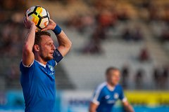 Zápas 26. kola první fotbalové ligy mezi týmy FK Jablonec a FC Slovan Liberec se odehrál 29. dubna na stadionu Střelnice v Jablonci nad Nisou. Na snímku je Vladimír Coufal.