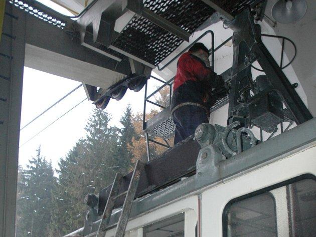 Revize celkového technického zařízení na lanovce.